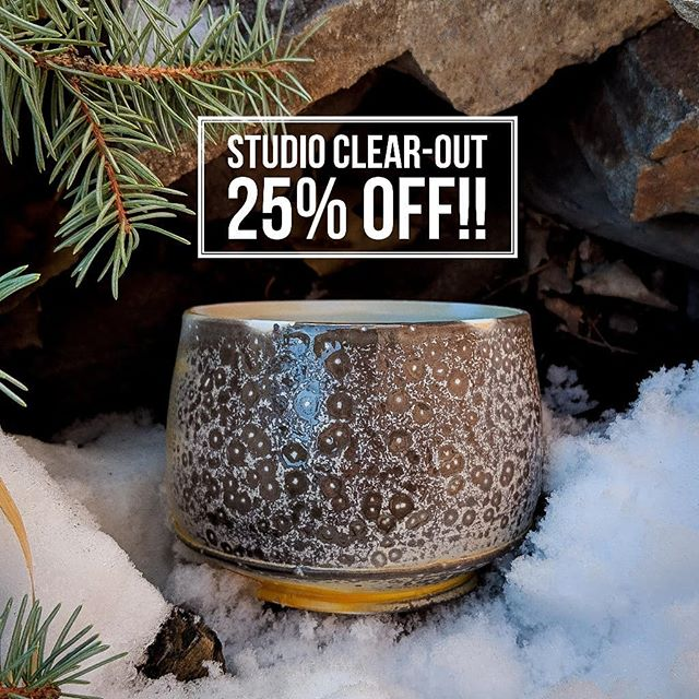 Studio clear-out!! At least 25% off everything!! This sale only comes once every few years and I thought it would be better to have it before Christmas instead of after, so you still have time to get some last minute gifts!! .... I will be pulling everything out, so there will be some pieces that haven't been seen before! If you have something in mind and want it shipped, DM ME! . . There will be 2 other artists at this home sale! @swan.darlene and @blackbirdartjewelry . . .152 Oakmoor Place SW, Calgary. . Thursday, Dec. 13, 2018 6pm-9pm Friday, Dec. 14, 4pm-9pm Saturday, Dec 15, 11am - 4pm.  Sunday Dec. 16, 11am - 4pm. . . **I will be there tonight, Saturday all day, and Sunday after 1pm** . . . . . . . #pottery #canadianceramics #keramik #陶器 #陶瓷 #ceramics #poterie #canadiancontent #ceramique #yycartist  #shoplocalyyc  #albertamade #sodafired #yycevents #madeincanada #contemporaryceramics