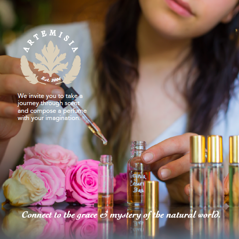 Introducing our Botanical Essence Bar! Explore and create your own distinctive fragrance to take home. $45.   Check calendar  for classes &   Class Gift Certificates