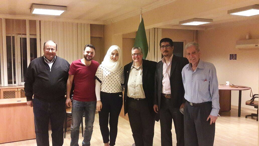 Some of the core members of the Syrian Promise Team with Karen Dickman of Sovereignty First.