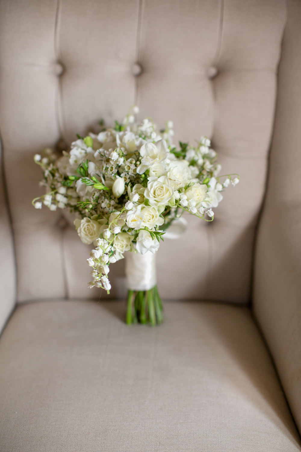 bride bouquet at carlton towers yorkshire
