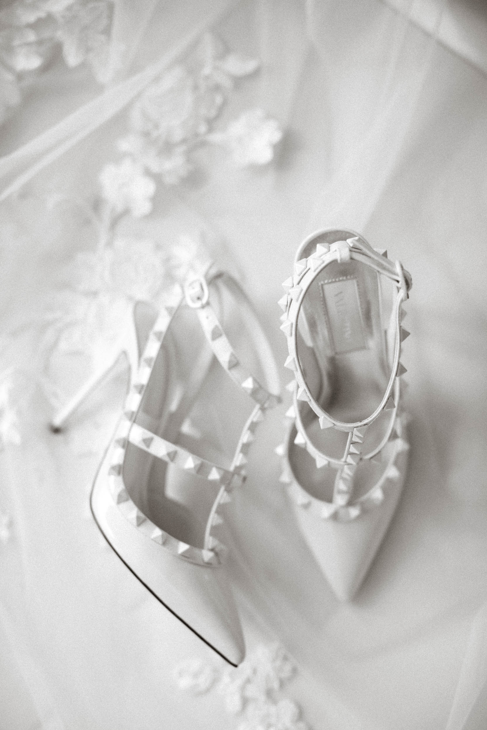 Valentino wedding shoes at Thornton Manor Wirral
