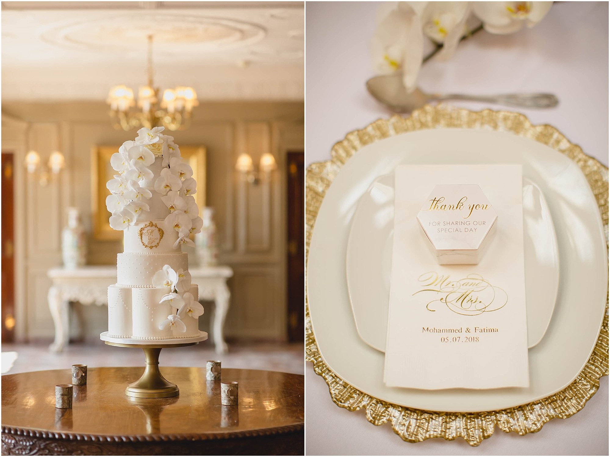 wedding cake  at Thornton Manor Wirral