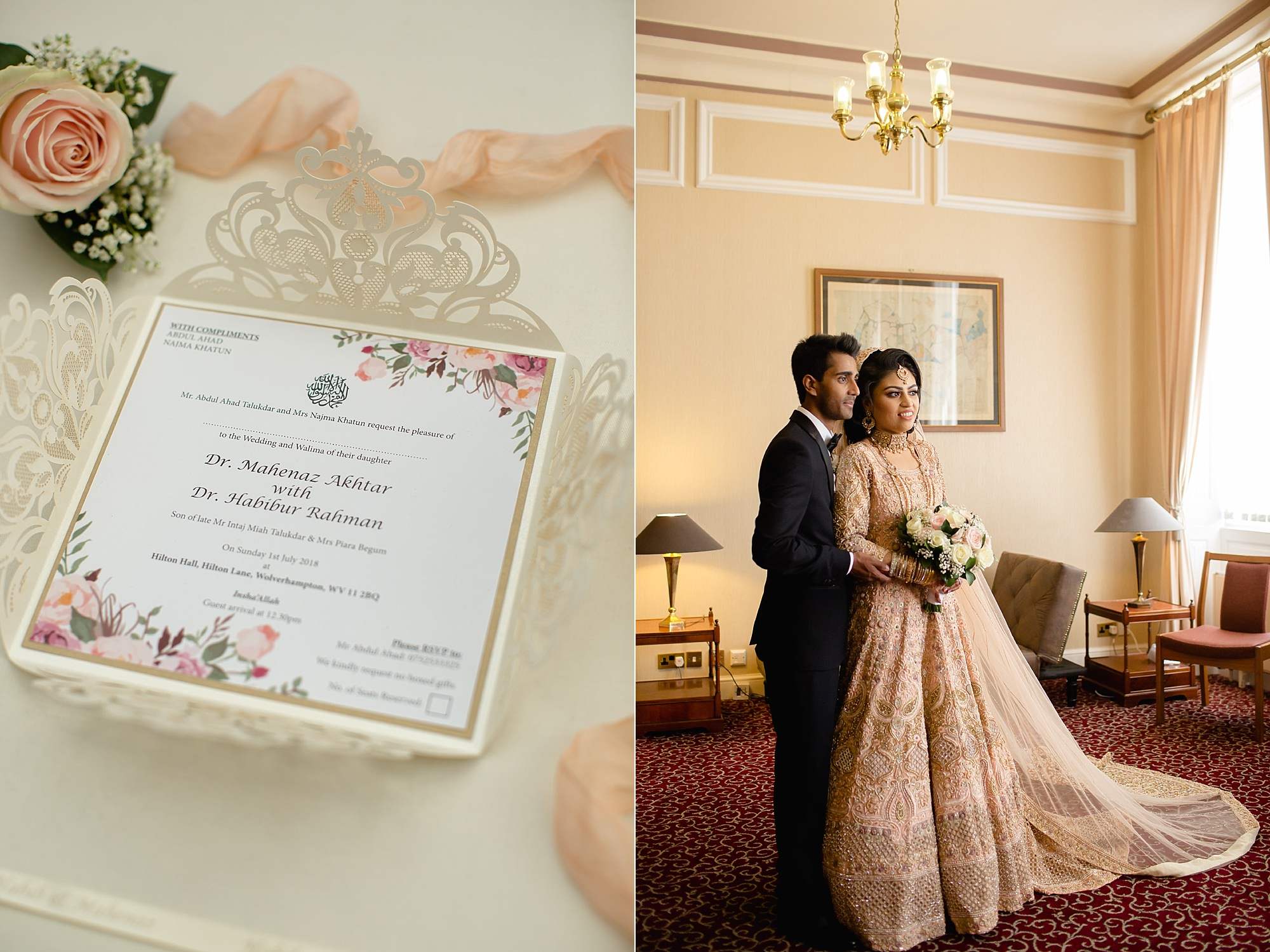 wedding photography details Hilton Hall Wolverhampton