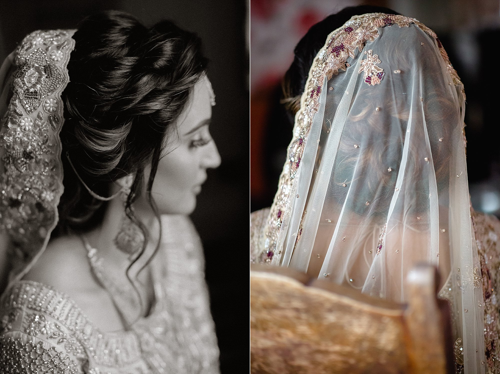 Pakistani bride getting ready at Wroxhall Abbey Coventry