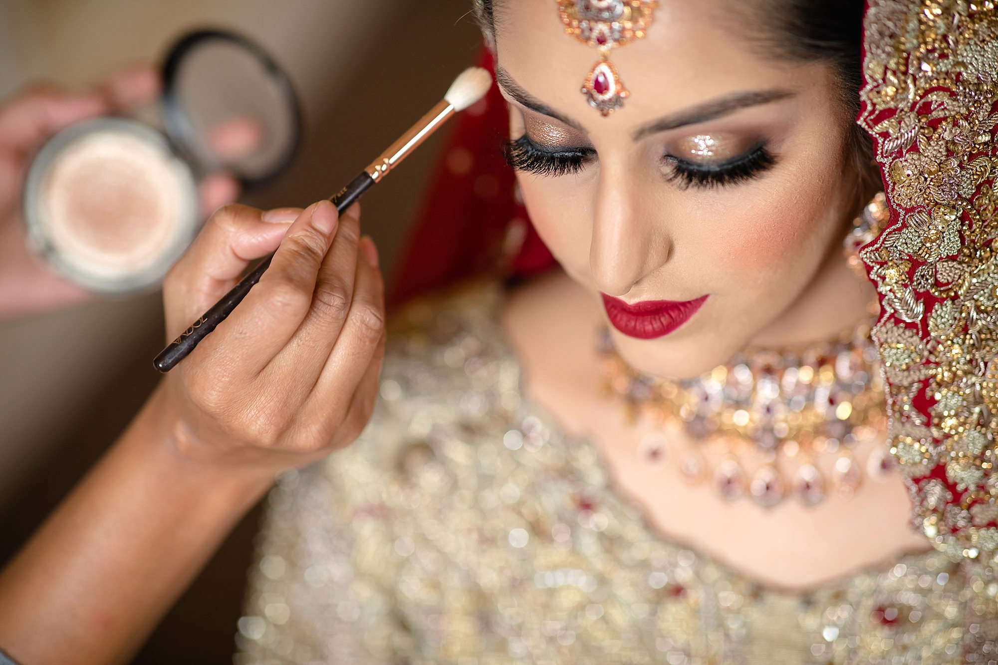 Pakistani bride getting ready at Tatton Park