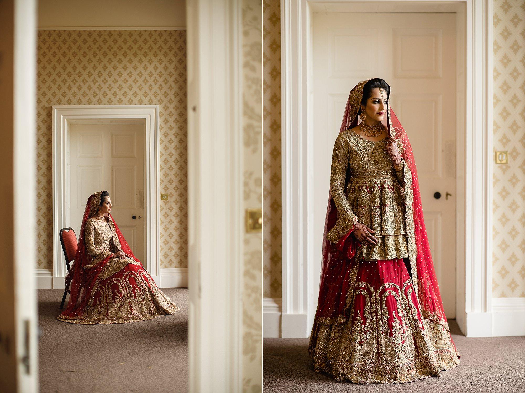 Pakistani Bride wedding portraits at Tatton Park Cheshire