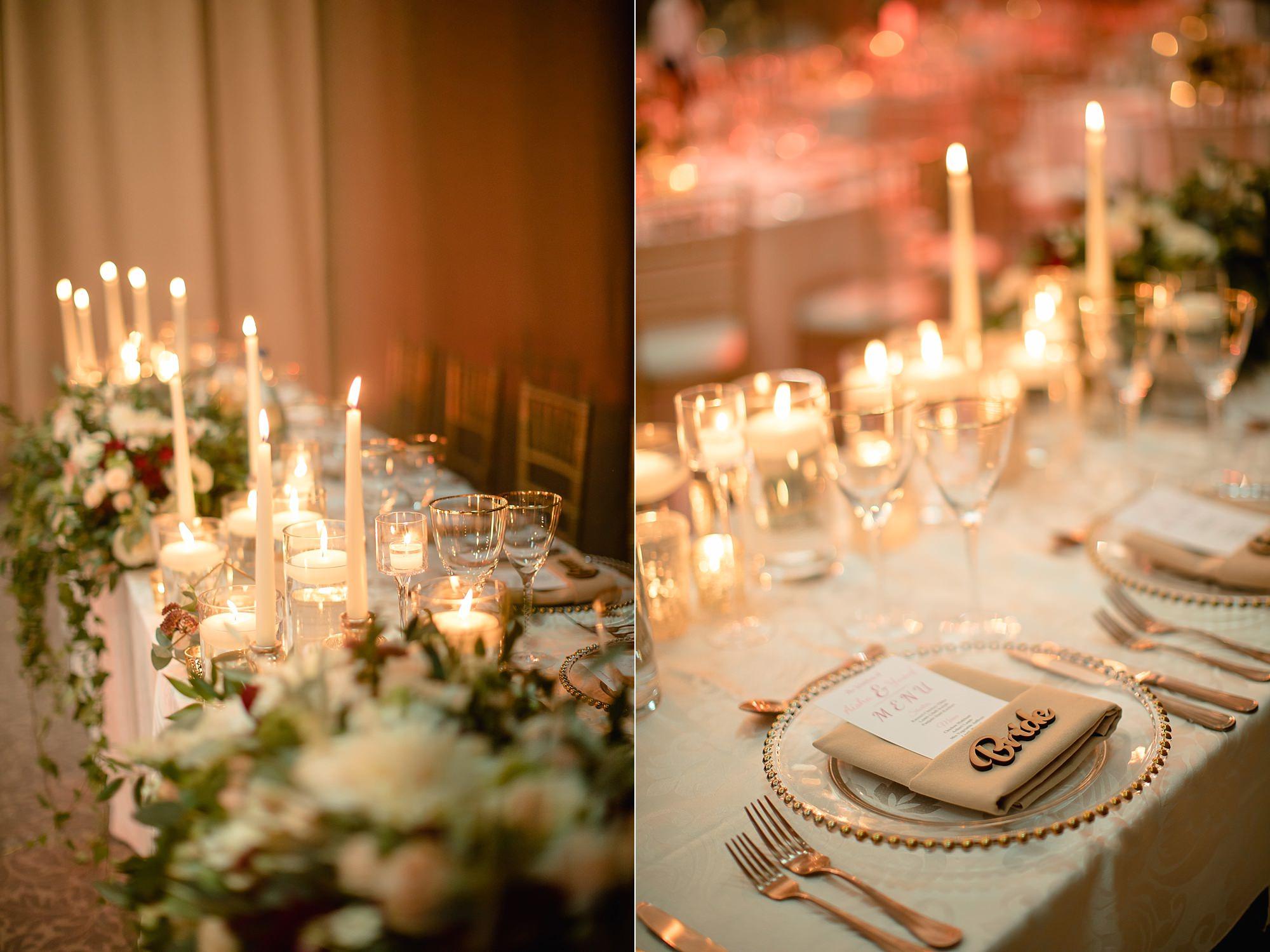 Wedding floral details at Tatton Park Cheshire