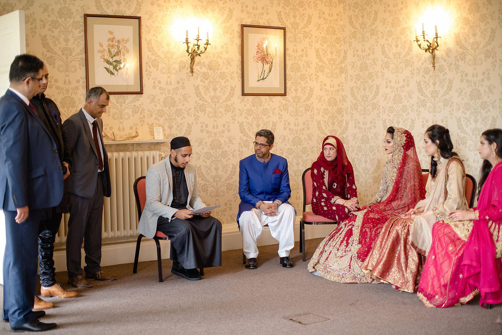 Pakistani Bride nikah ceremony at Tatton Park Cheshire