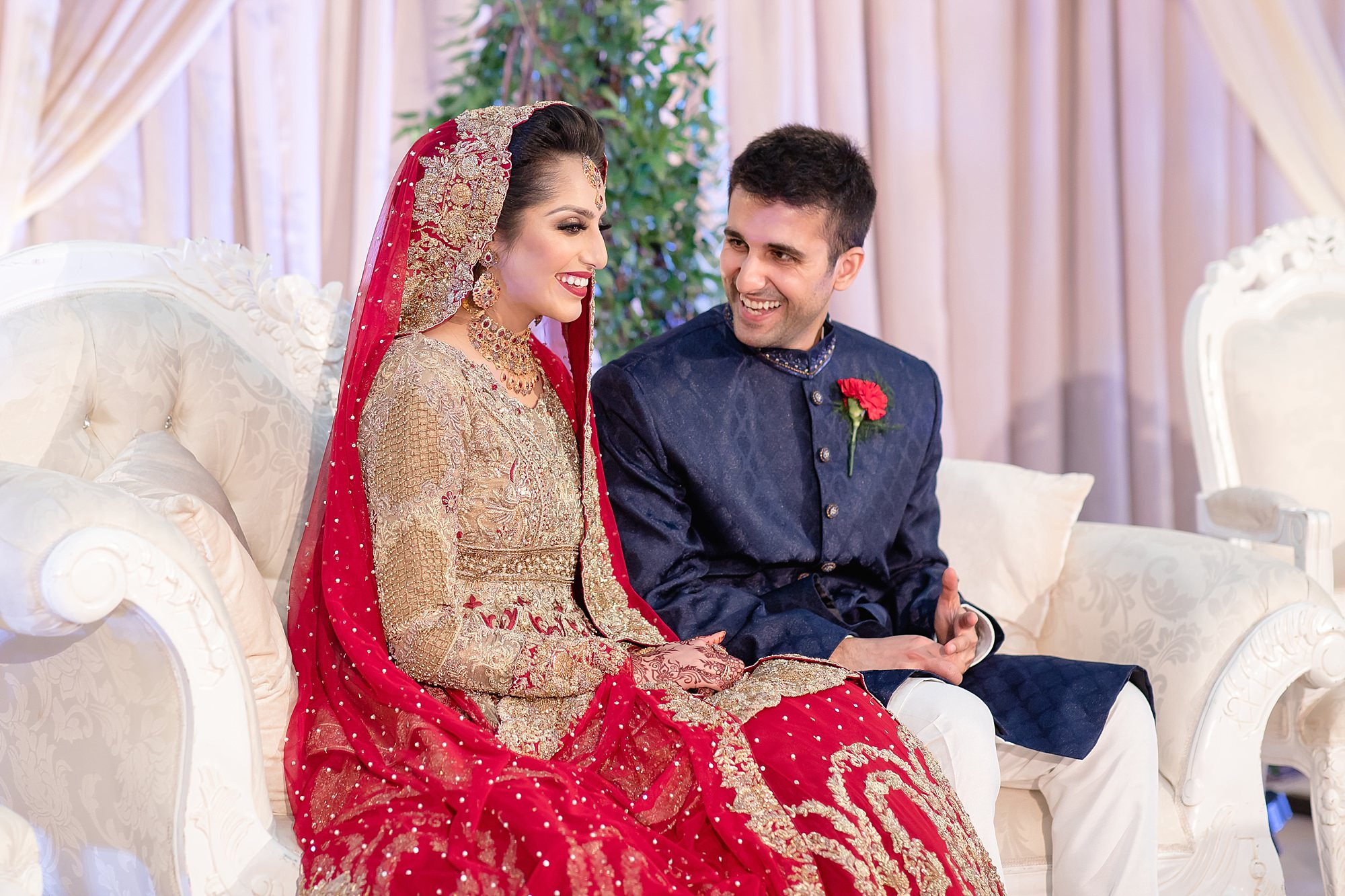 happy pakistani bride at Tatton Park Cheshire