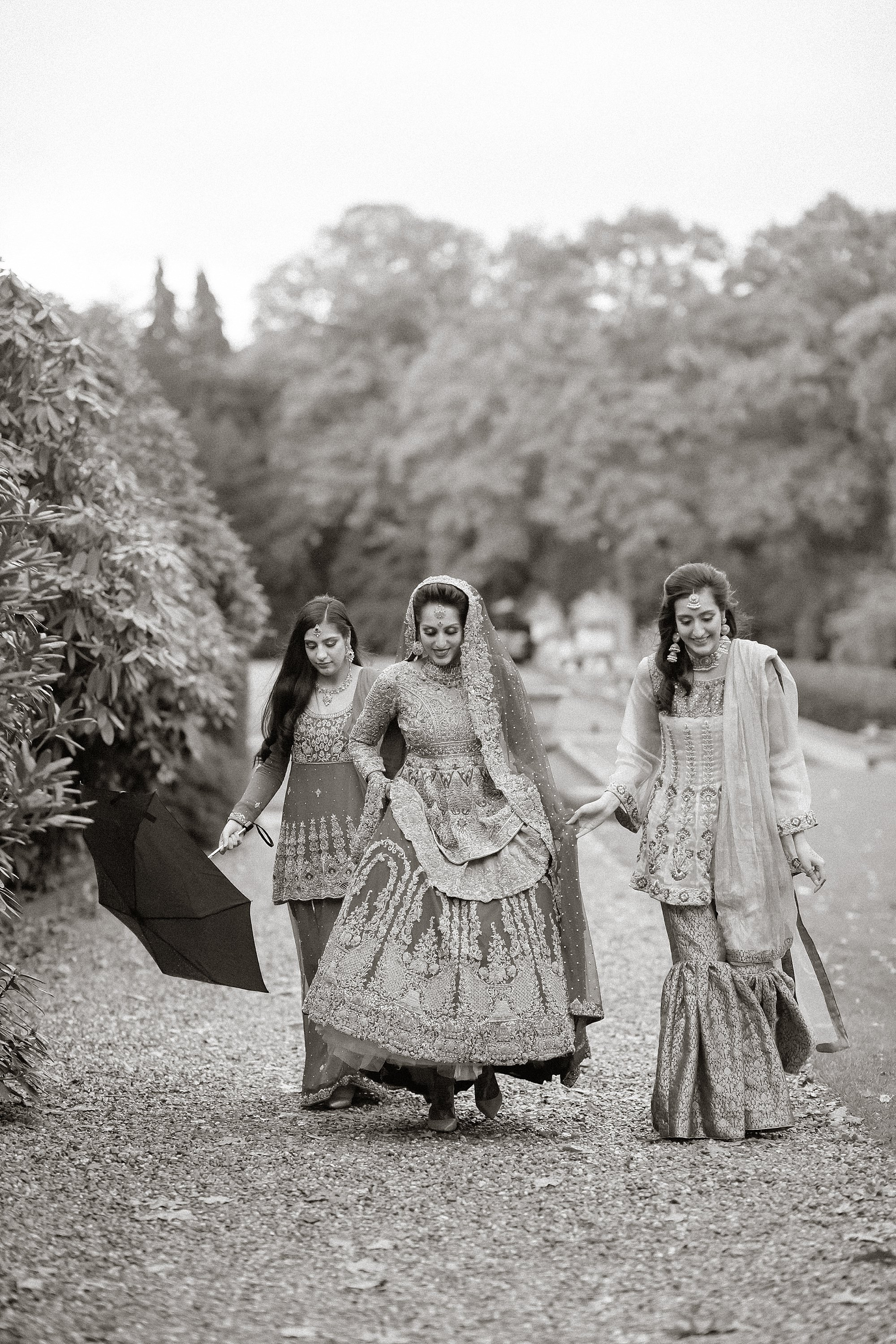 Pakistani bride and sisters at Tatton Park Cheshire