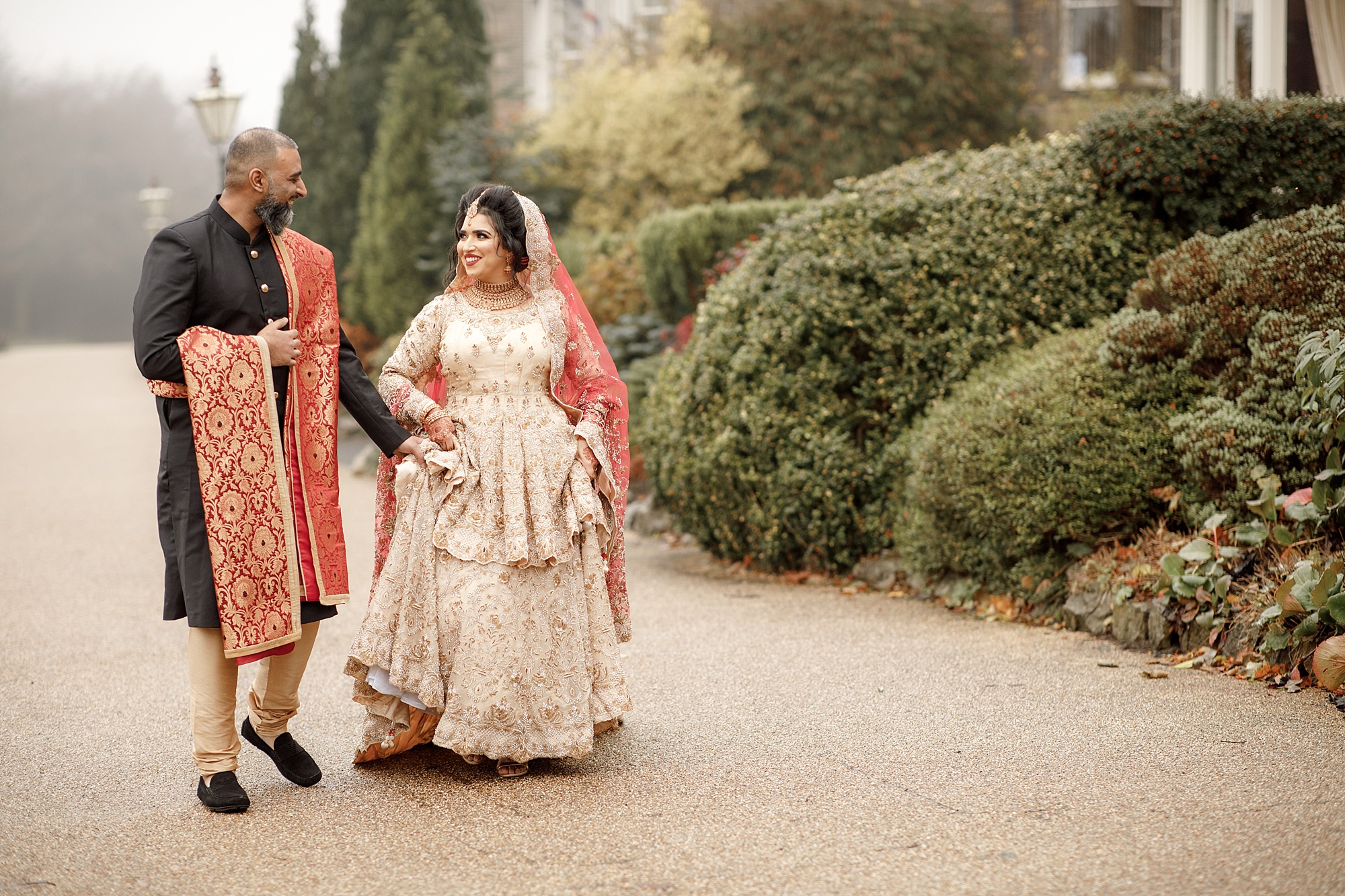 Pakistani Portrait Wedding photography at Devonshire Dome