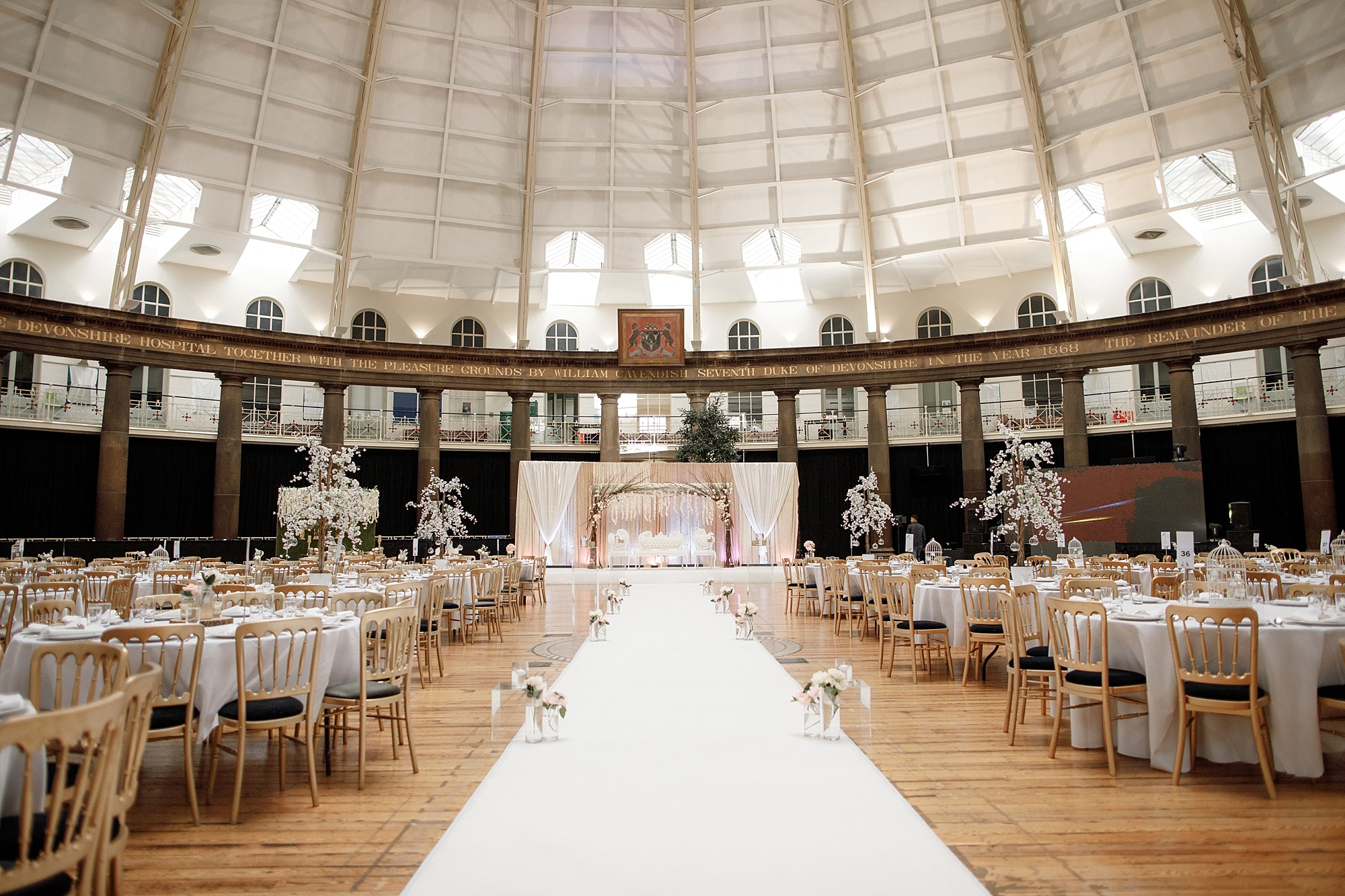Wedding venue details photography at Devonshire Dome