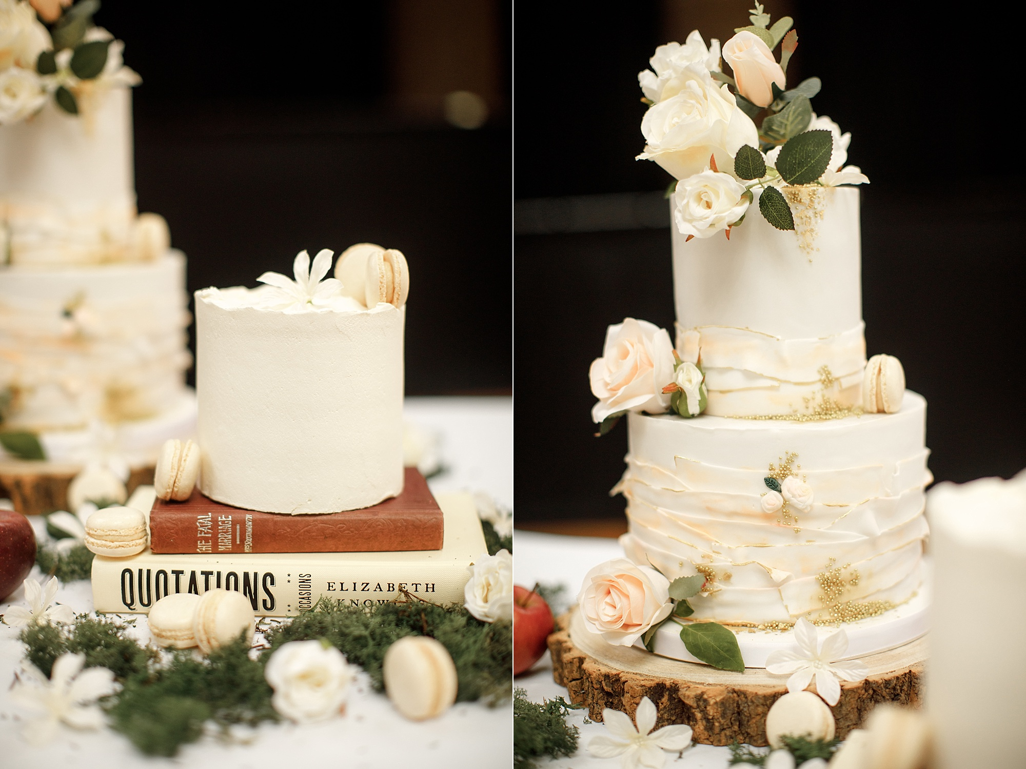 Wedding cake details photography at Devonshire Dome