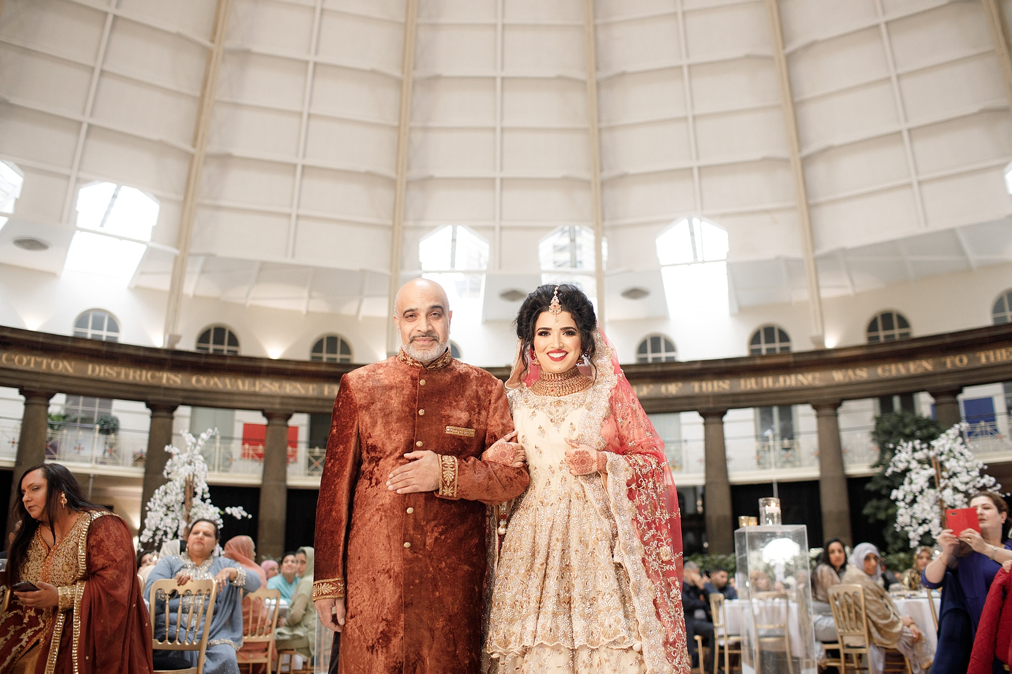 Pakistani Bride Entrance wedding photography Devonshire Dome