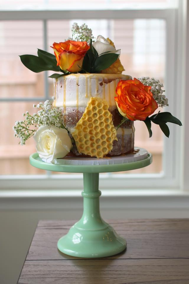 Honey Butter Naked Cake