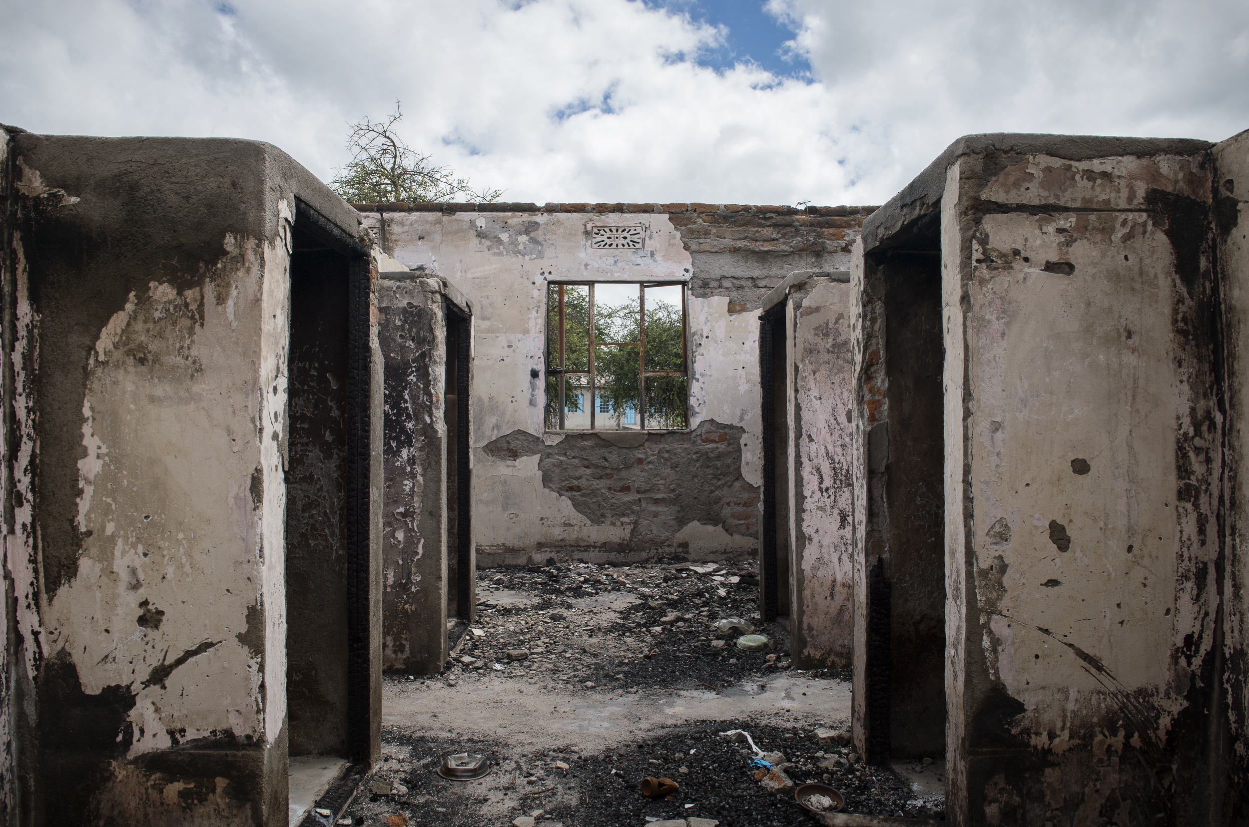 Boys' dormitory after the fire