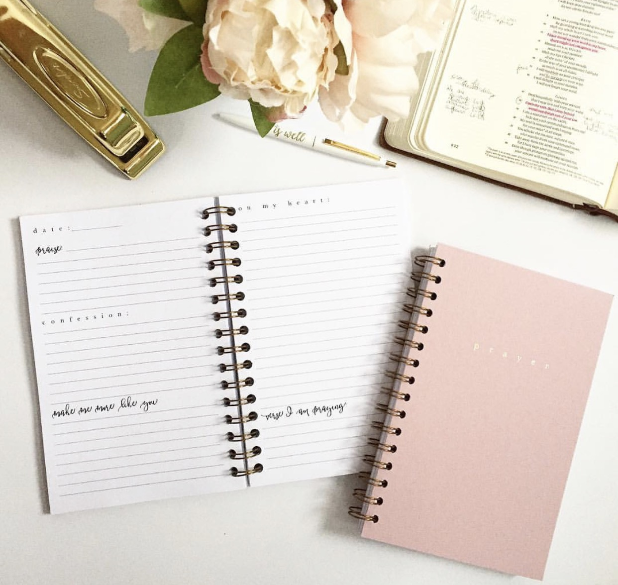Check out the new prayer journal in the VGC shop if you want to get start putting some of these tips into action, and spending one on one time with God every day! It has sections for Praise, Confessions, Applications, Prayers, and a Verse for each day...