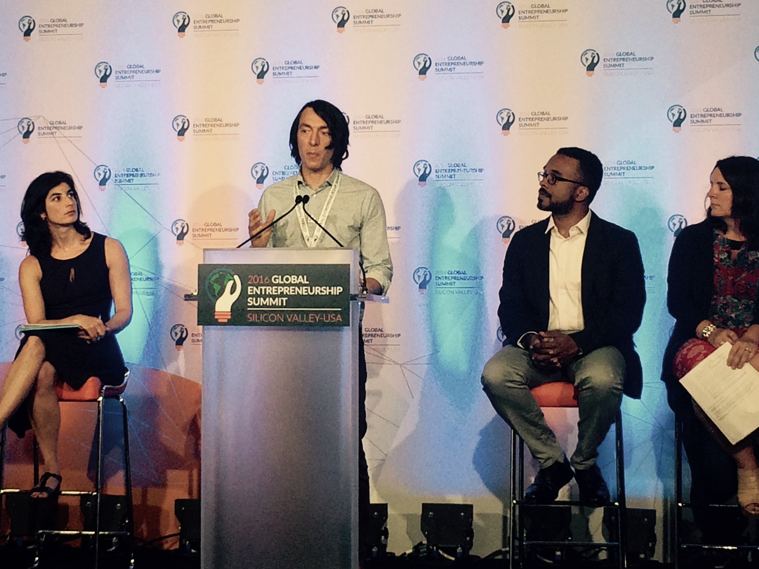 Off Grid Electric CEO Xavier Helgesen speaks at President Obama's 7th Annual Global Entrepreneurship Summit
