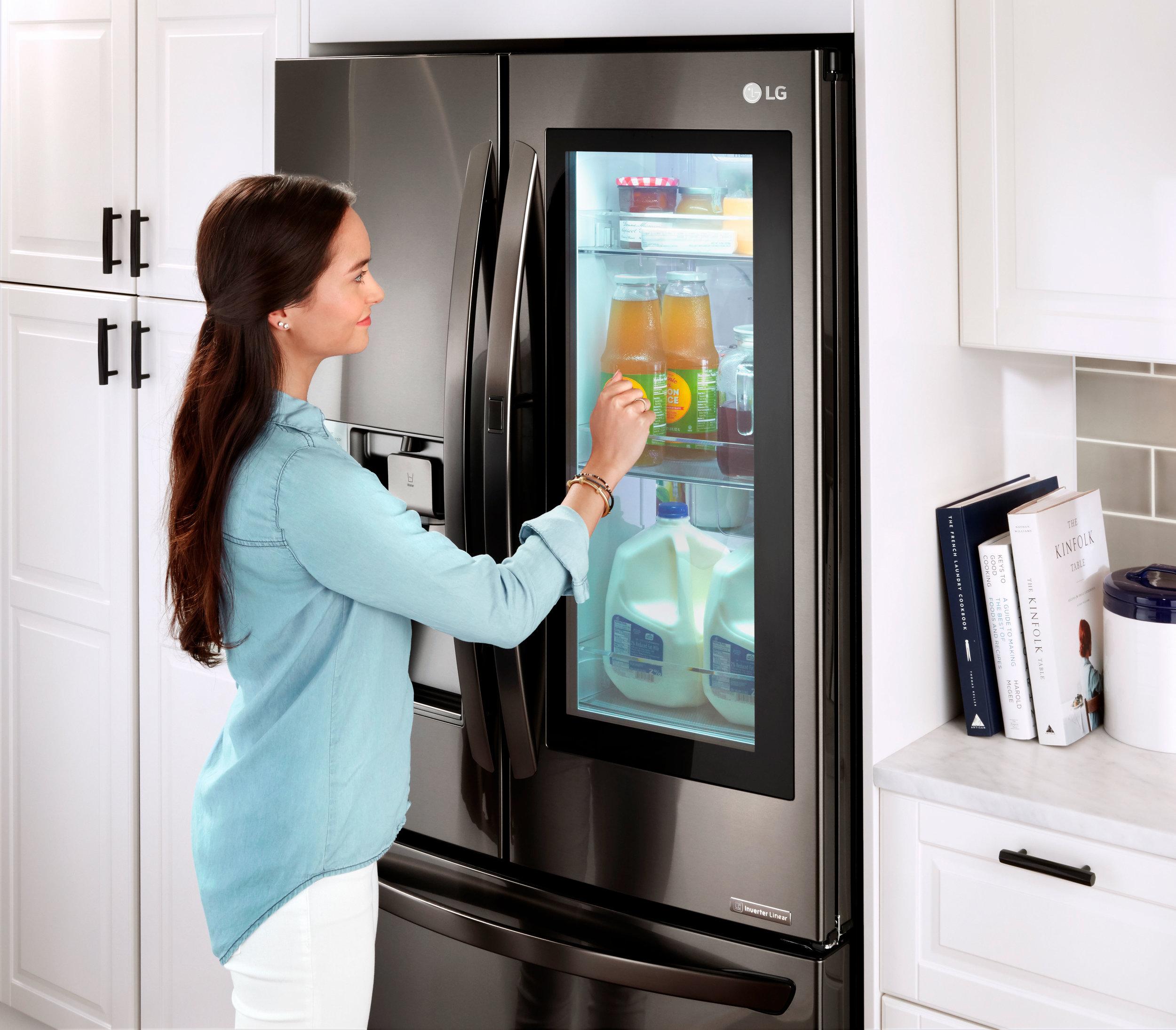 LG Knock refrigerator with door-in-door feature