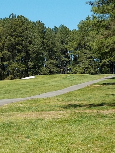 Hole #1, par 4- Ranging from 320 to 375 yards, this hole has a good elevation drop to start, and a distinctive look from each tee box. An uphill 2nd shot to a small green, guarded by an ever present bunker on the left.