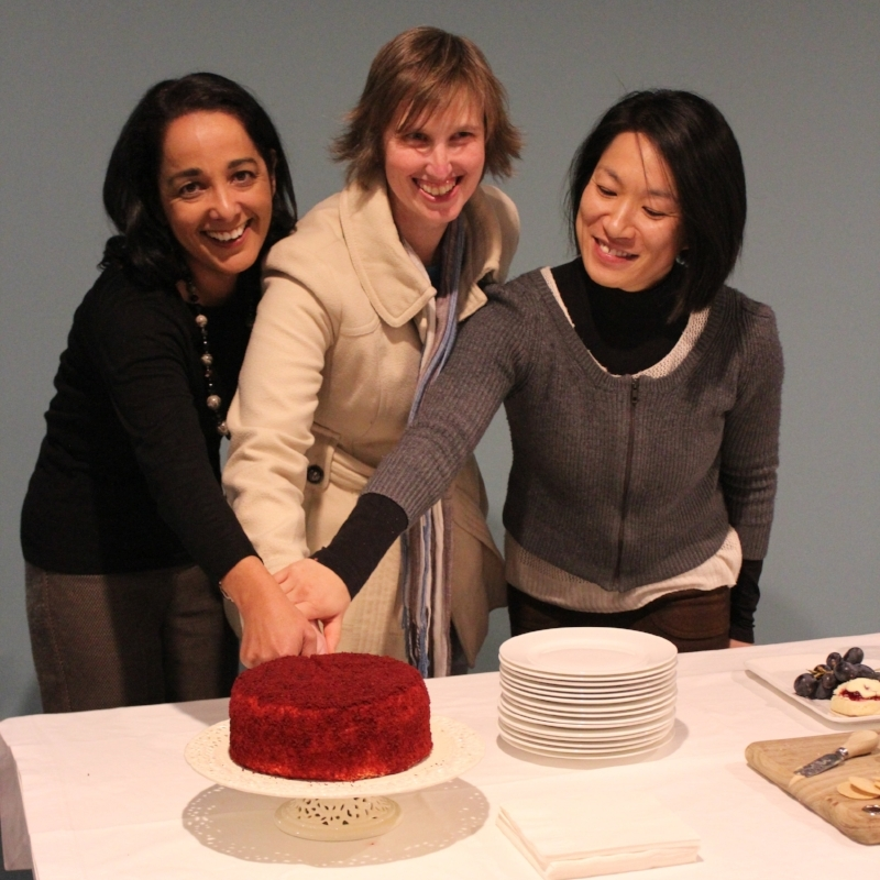 From left to right: Hub graduates Lisa Bateup, Mel Hanger and Mel Fung