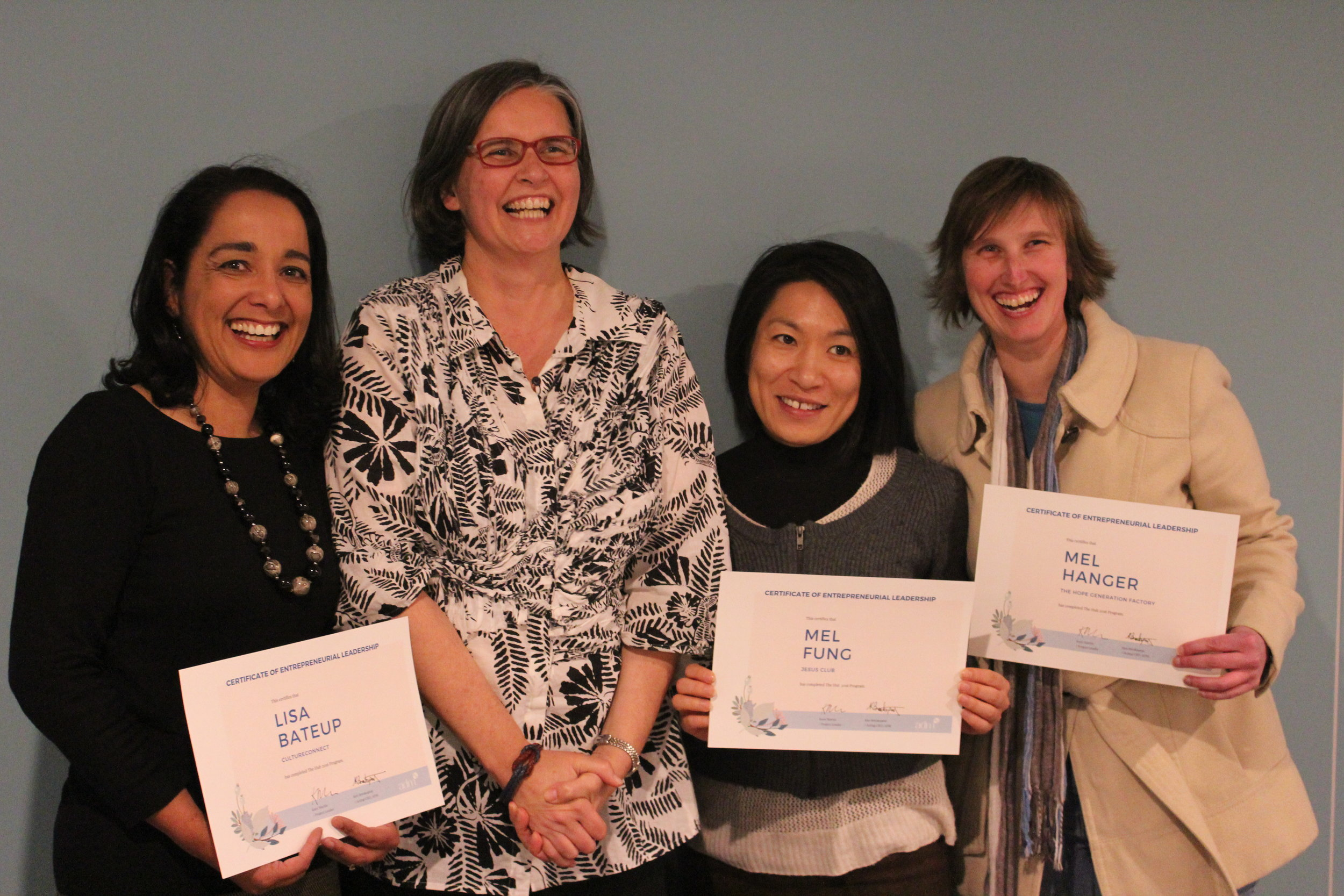 Our Hub graduates, together with Hub and Seed Project Leader, Kara Martin (second from left)