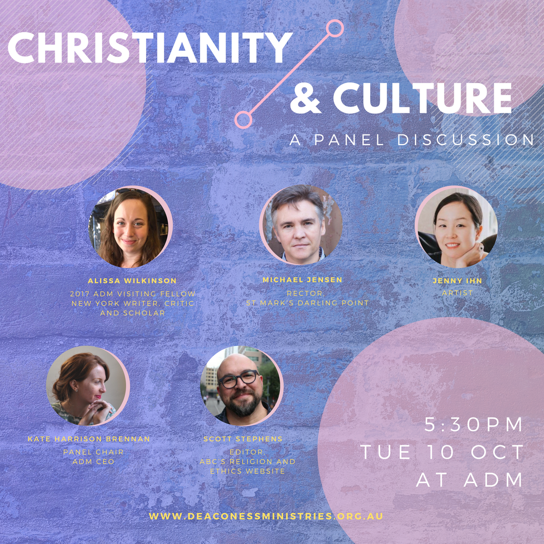 Christianity & Culture: A panel discussion   Join New York writer, critic and scholar Alissa Wilkinson, along with a panel of leading Christian thinkers and creatives for a unique evening of conversation about re-imagining Christian public engagement.