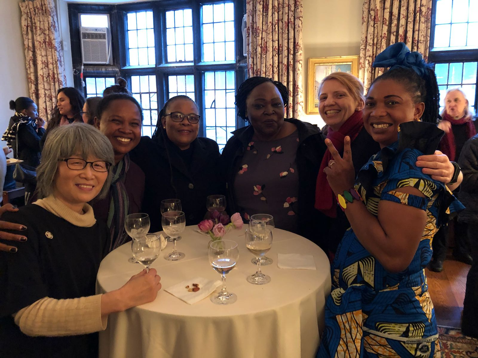 Ruth, second from right, with with Anglican delegates from Japan, Madagascar, Botswana, north Sudan, DR Congo.