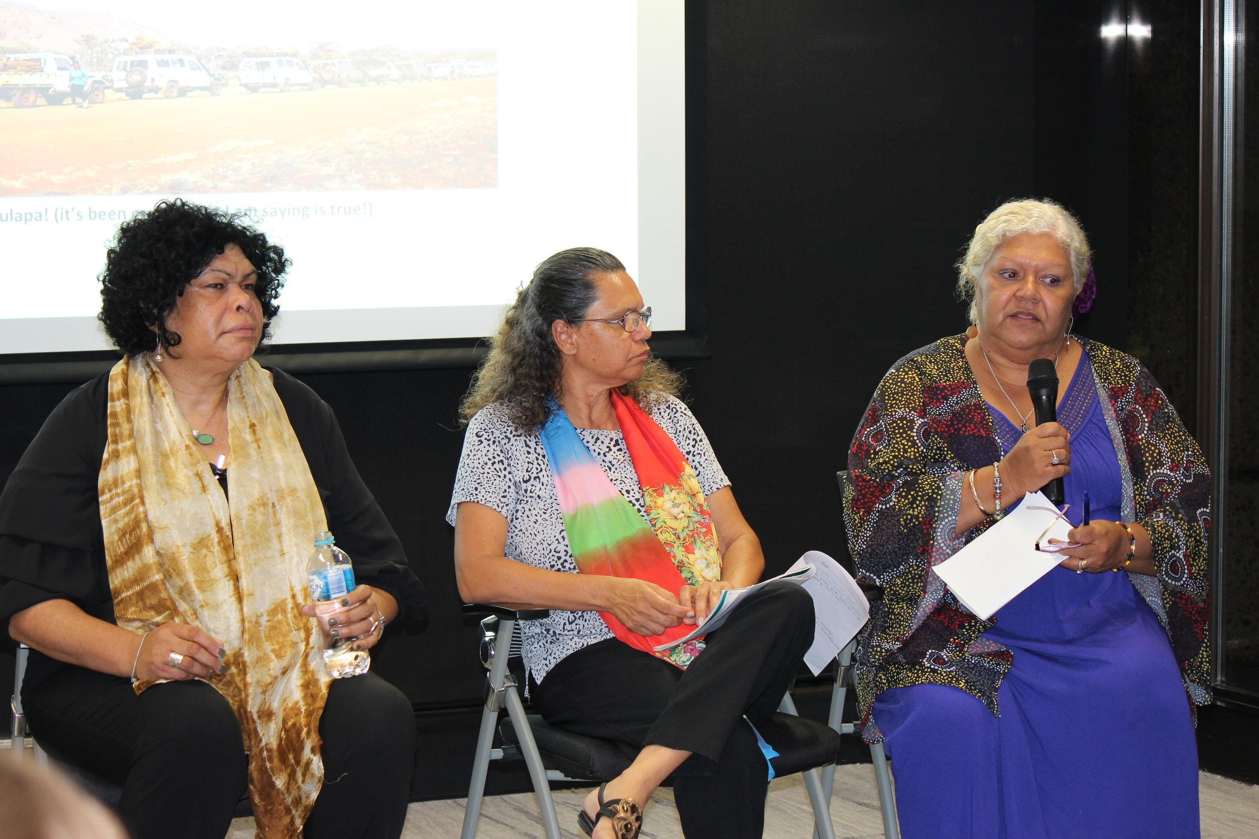 Left to right: Andrea Mason, Kayleen Manton and Sharon Minniecon