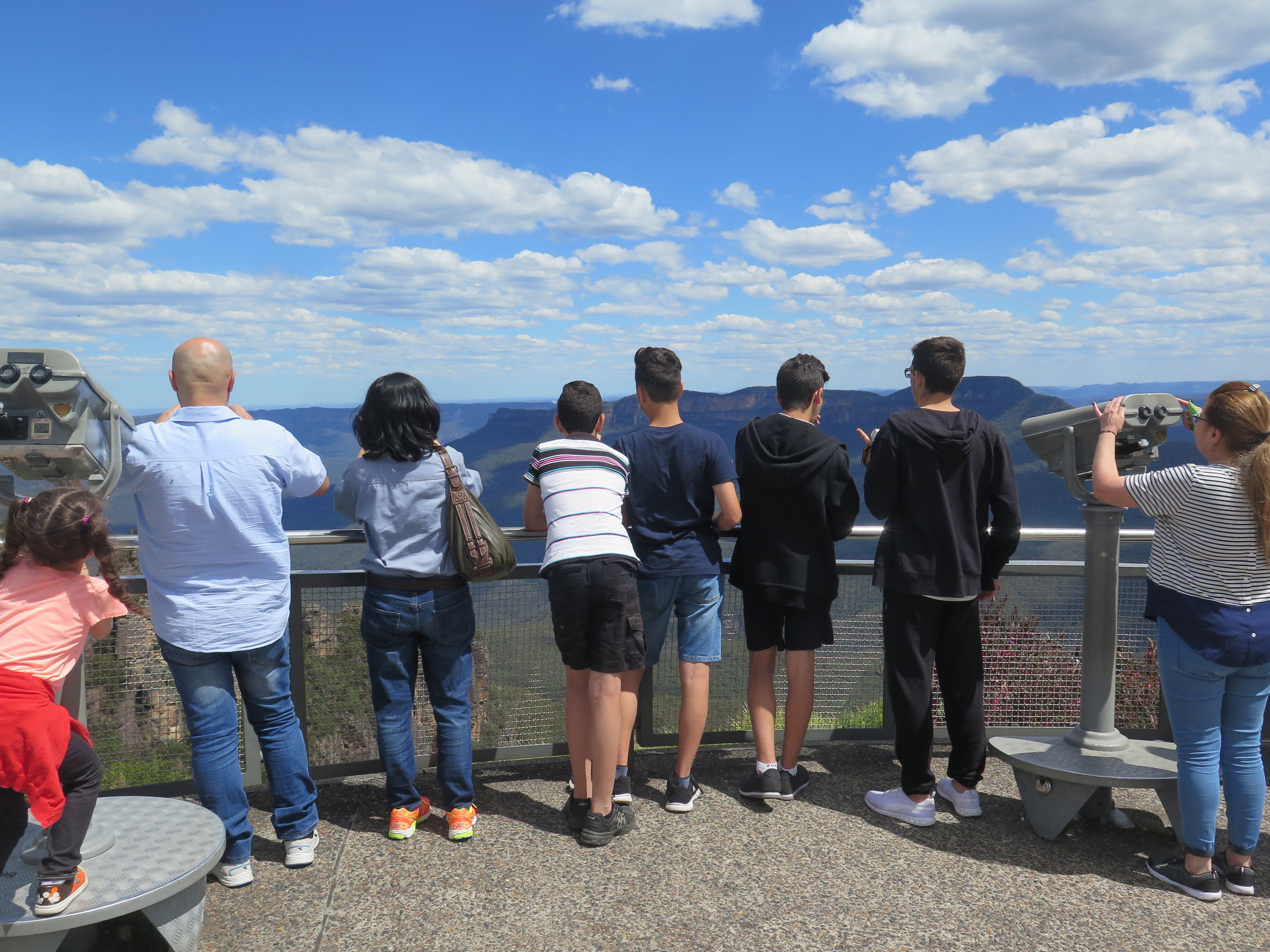 An excursion to the Blue Mountains for refugees, run by St Andrew's Anglican Church, Lakemba