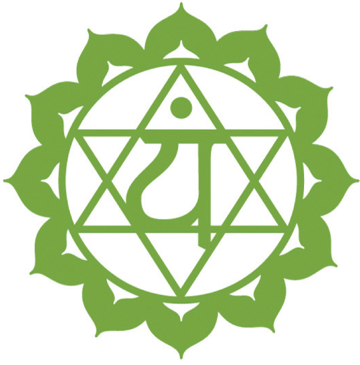 Anahata Chakra (The Heart Chakra)   The Heart/4th Chakra (Green)can be found along the same line as your heart directly centered on your chest and it is where you will find absolute truth, love, hope and compassion.  Element - Air  Location - Heart center  Color - Green  Organs - Heart, Lungs  Related to - Community, Compassion, forgiveness  Over active - Ineffective, overly sensitive  Under active - Unable to connect, unforgiving  Demon - Grief  Right - To Love