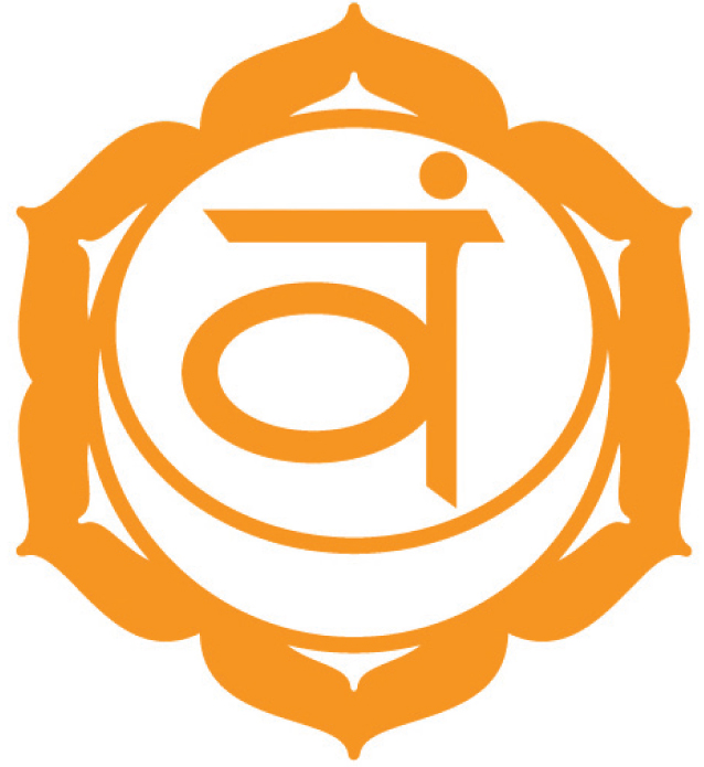 Svadisthana Chakra (The Sacral Chakra)   The Sacral/2nd Chakra (Orange)is located on your hip line below your belly button and represents sexual identity and intimacy.  Element - Water  Location - Hips, Pelvis  Color - Orange  Organs - Reproductive organs, sexual organs  Related to - Creativity, libido  Over active - Lustful, greedy  Under active - Dull, colorless  Demon - Guilt  Right - To Feel