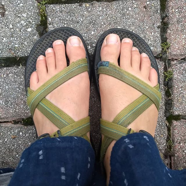 8 years with these shoes and only today that I have to do once mom end. I love my chacos!  #chacosandalsforlife #slowfashion  #chacosummertan #chacotan #ifitsnotsnowingimwearingchacos #visiblemending
