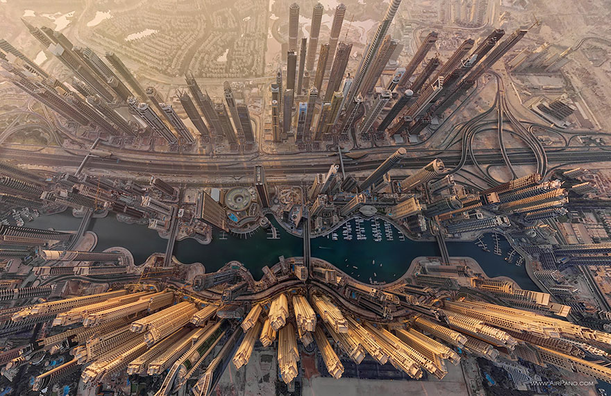 Dubai Bird's-Eye Shot