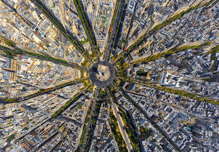 Paris Bird's-Eye Shot