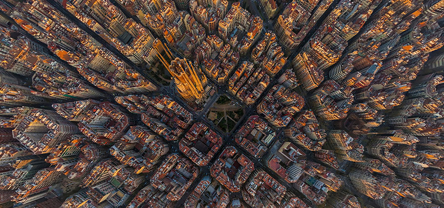 Barcelona Bird's-Eye Shot