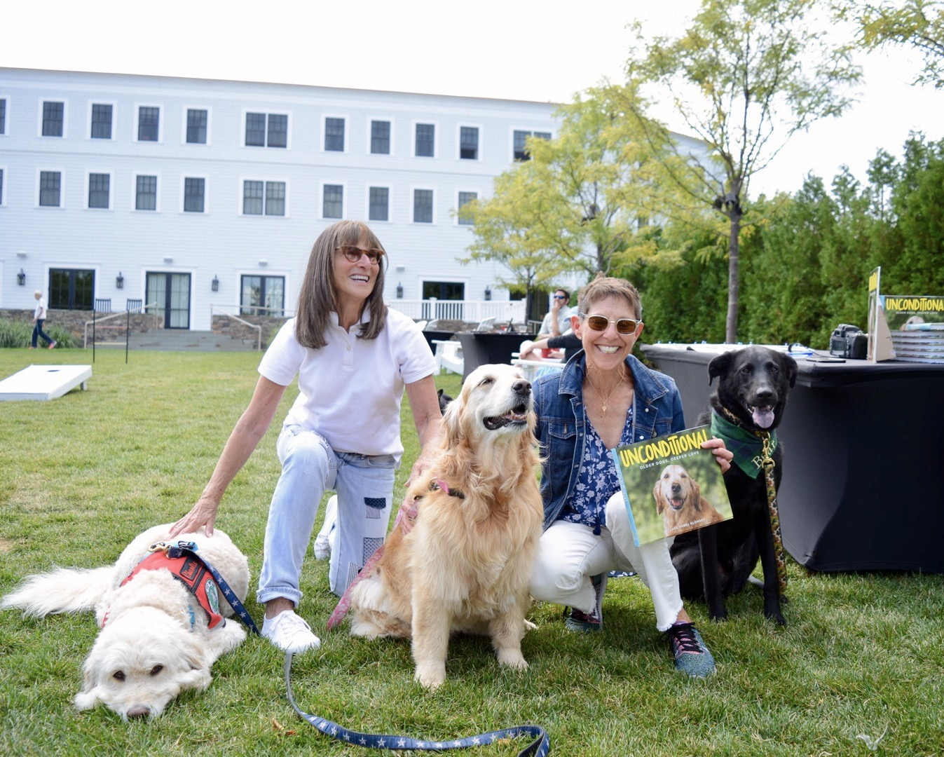 Bear with Jane Sobel Klonsky, her pup Charlie, and the cover pup!