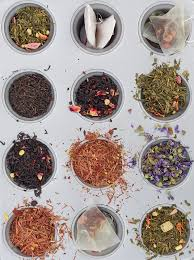 Samples for you to smell and see before you select your tea beverage.