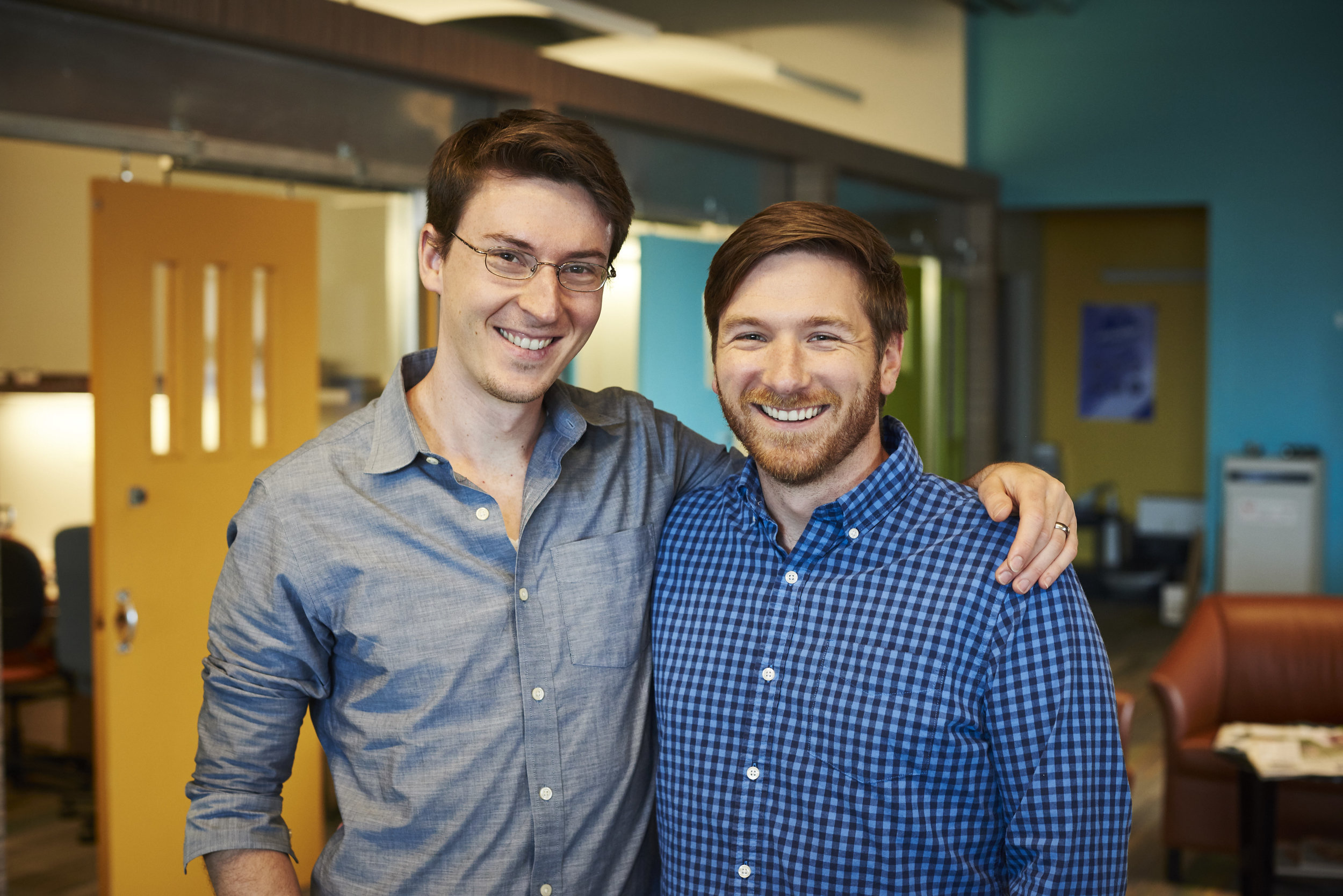 Everhire cofounders Yannick Cohen (left) and Paul Bradley Slay (right).