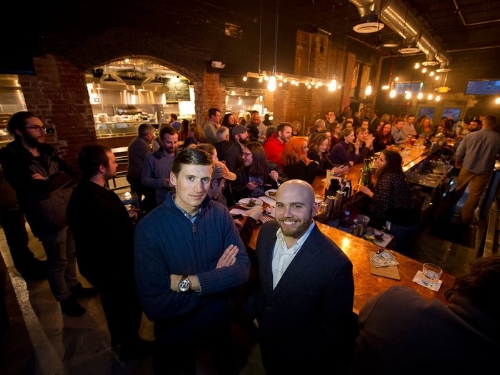 Galley Group Founders, Tyler Benson (left) and Benjamin Mantica (right) at Smallman Galley ( Photo credit Jeff Swensen)