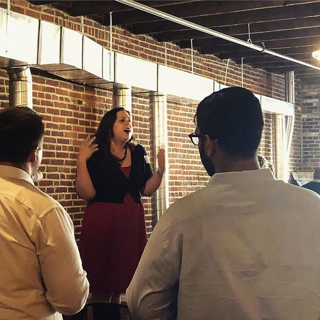 Jennifer Apicella, President & Co-Founder of Build412 Tech, gives a welcoming message during the July Tech Happy Hour event at @kingflyspirits which took place on July 10th. Learn more about the group & their upcoming events by visiting Build412.org.