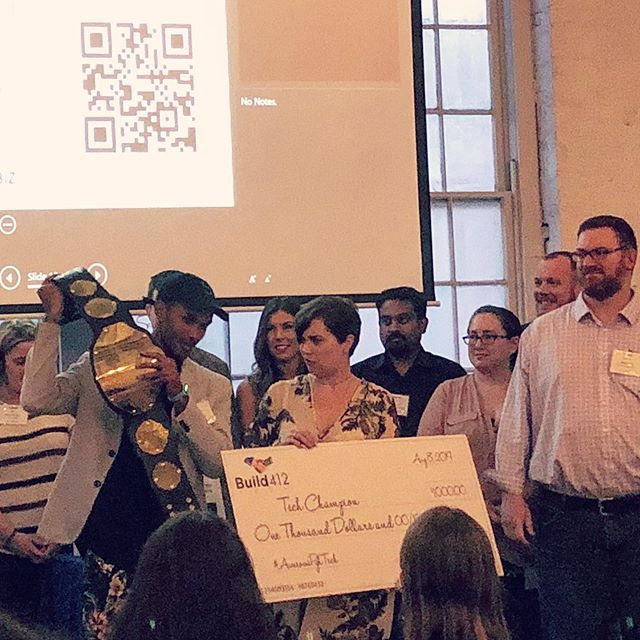 Congratulations to @theauraspark for winning the 2019 @build.412 Tech Demo Showcase! #pittsburgh #tech #networking