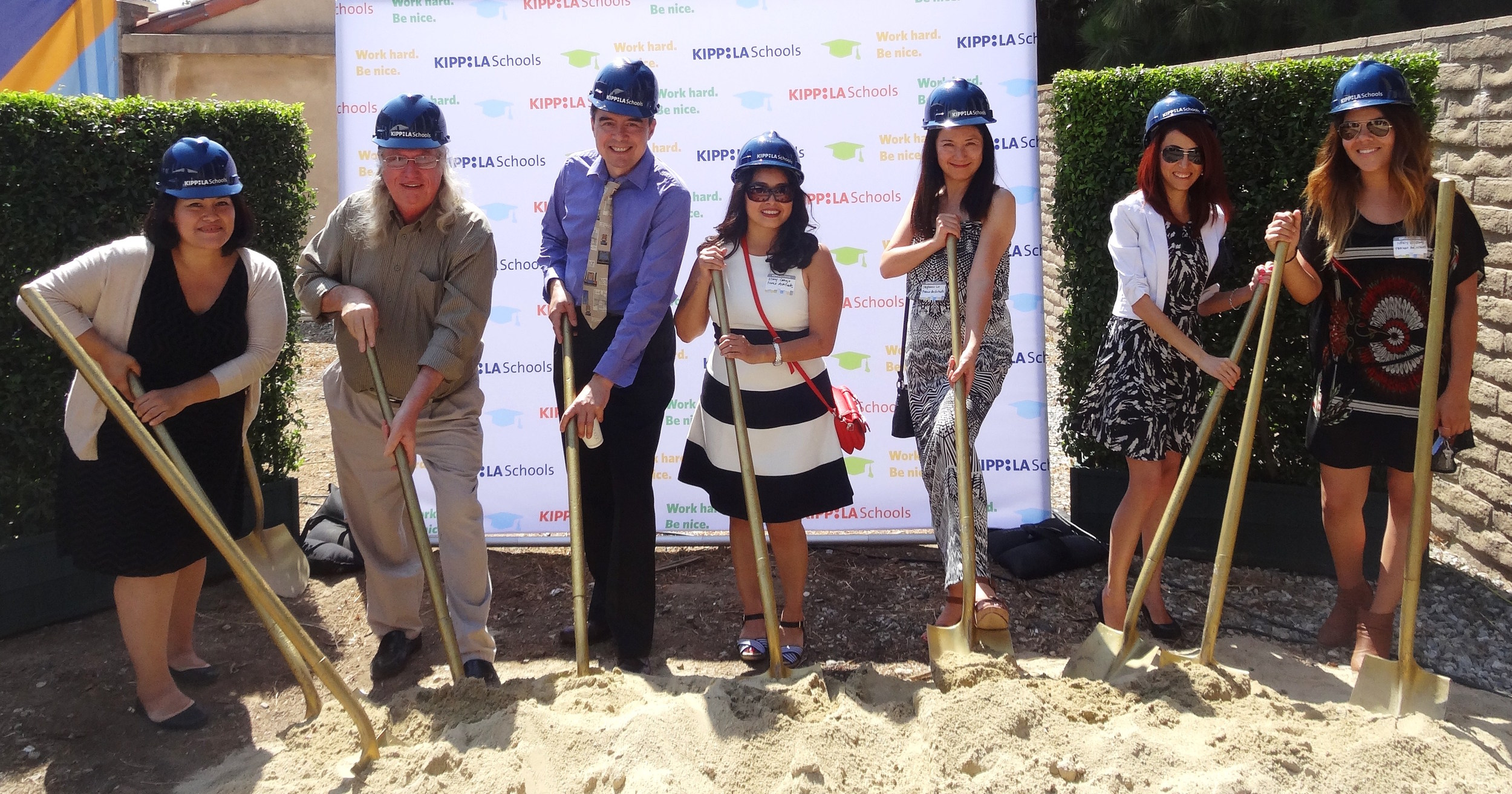 Franco Architects at the Kipp East LA groundbreaking ceremony in 2014.