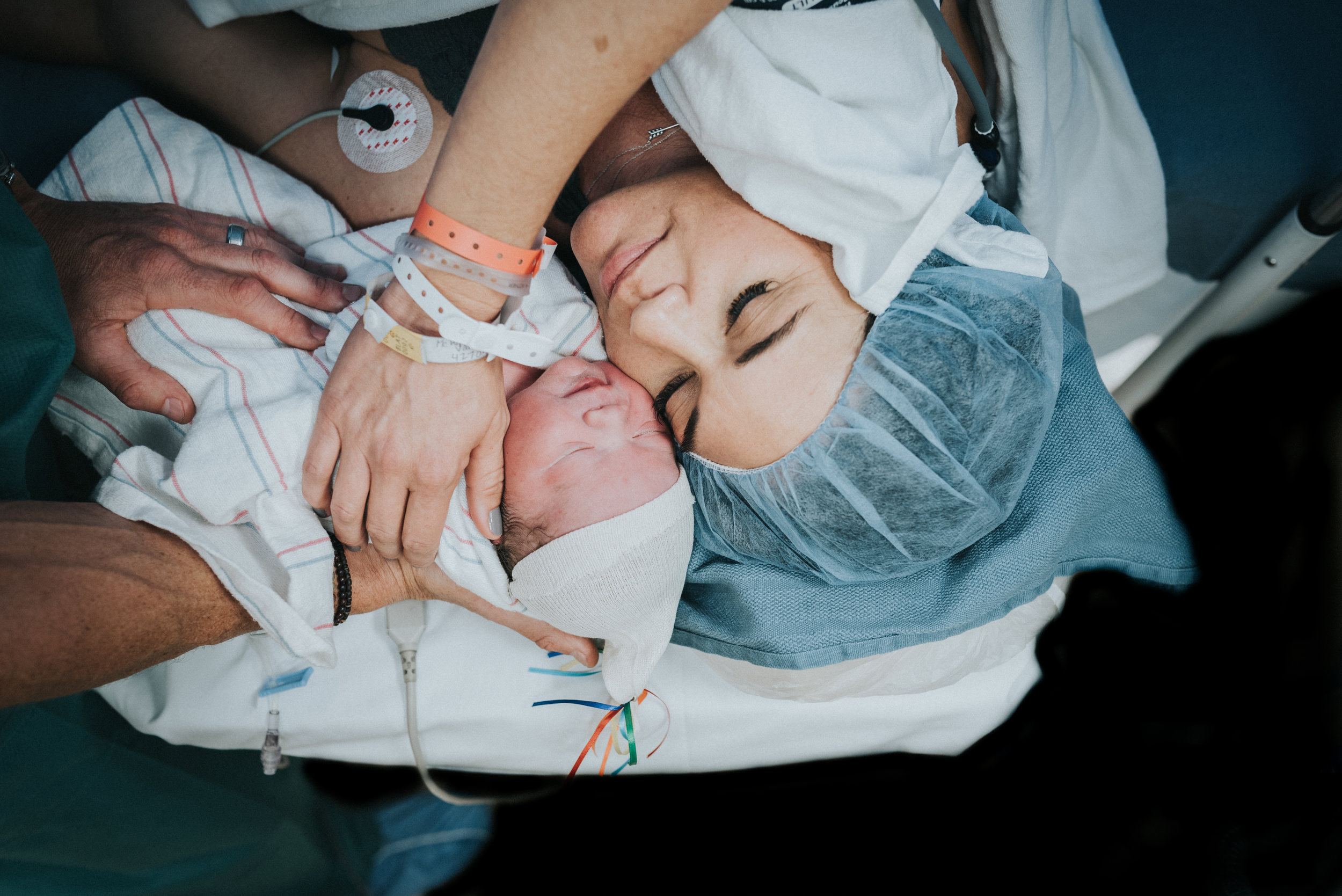 When mother meets baby post cesarean section at Scottsdale Shea Hospital.