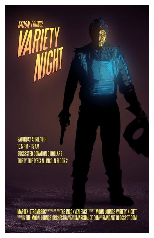 Moon Lounge Variety Night Poster