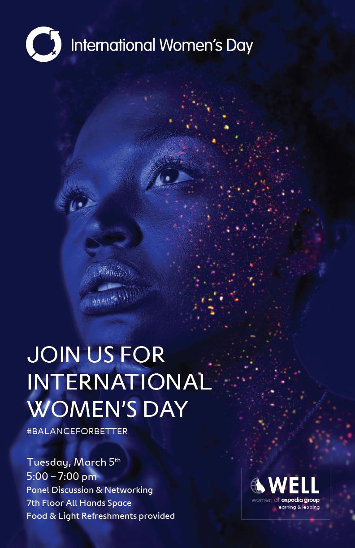 International Women's Day 2019 Poster