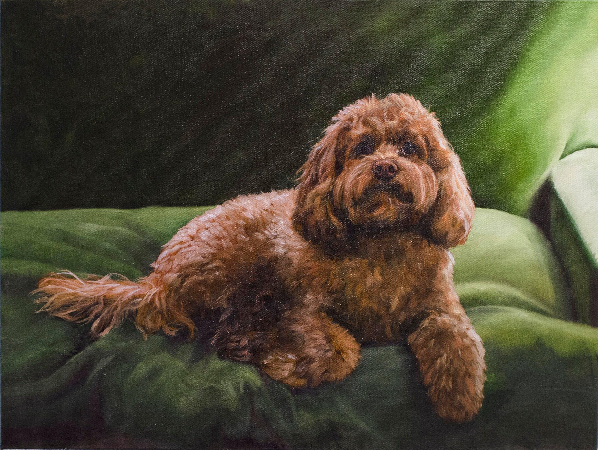Deposit for a Custom dog sculpture portrait