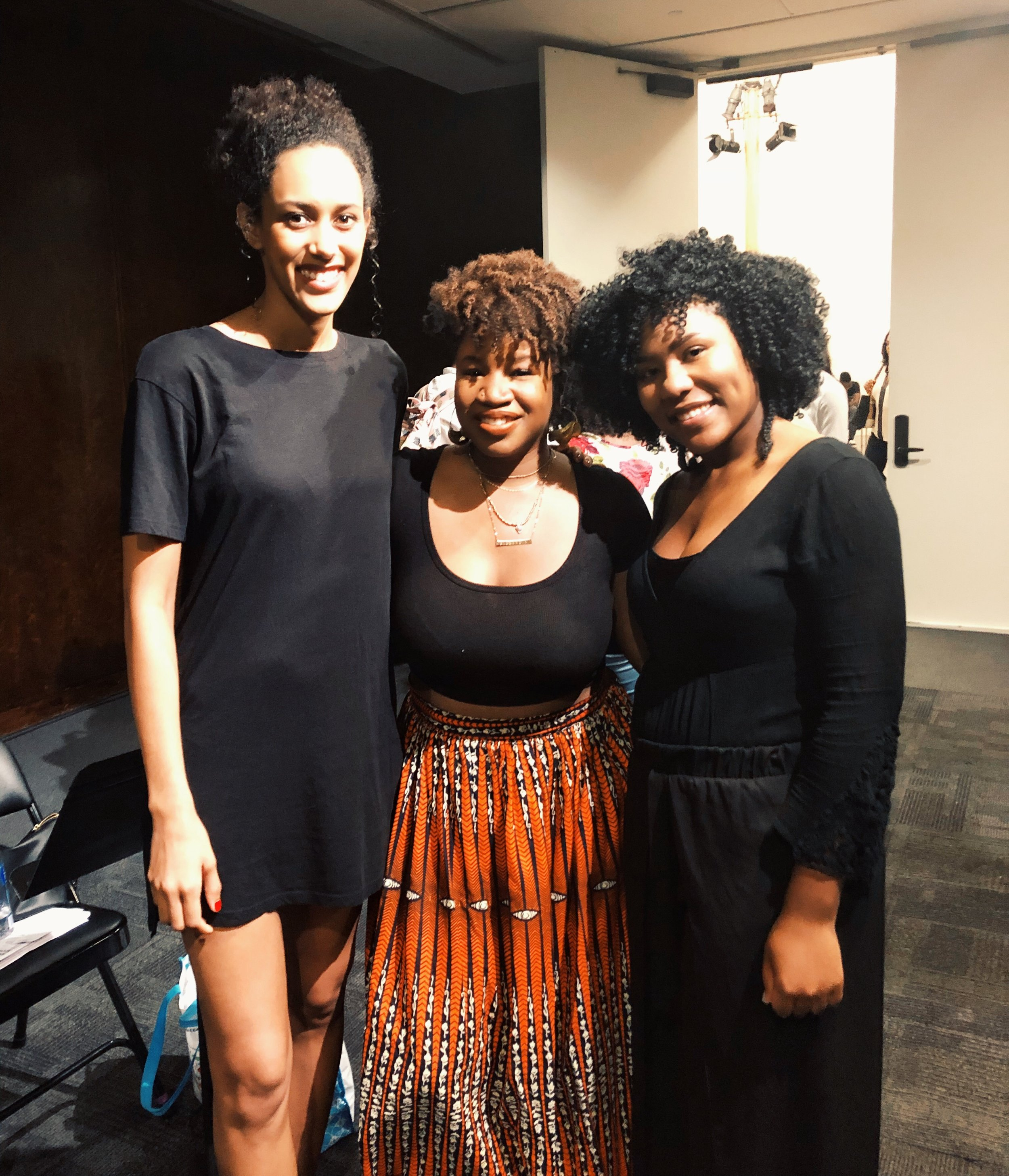 Actors Lori Pitts, Tara Reeves, and myself after the show