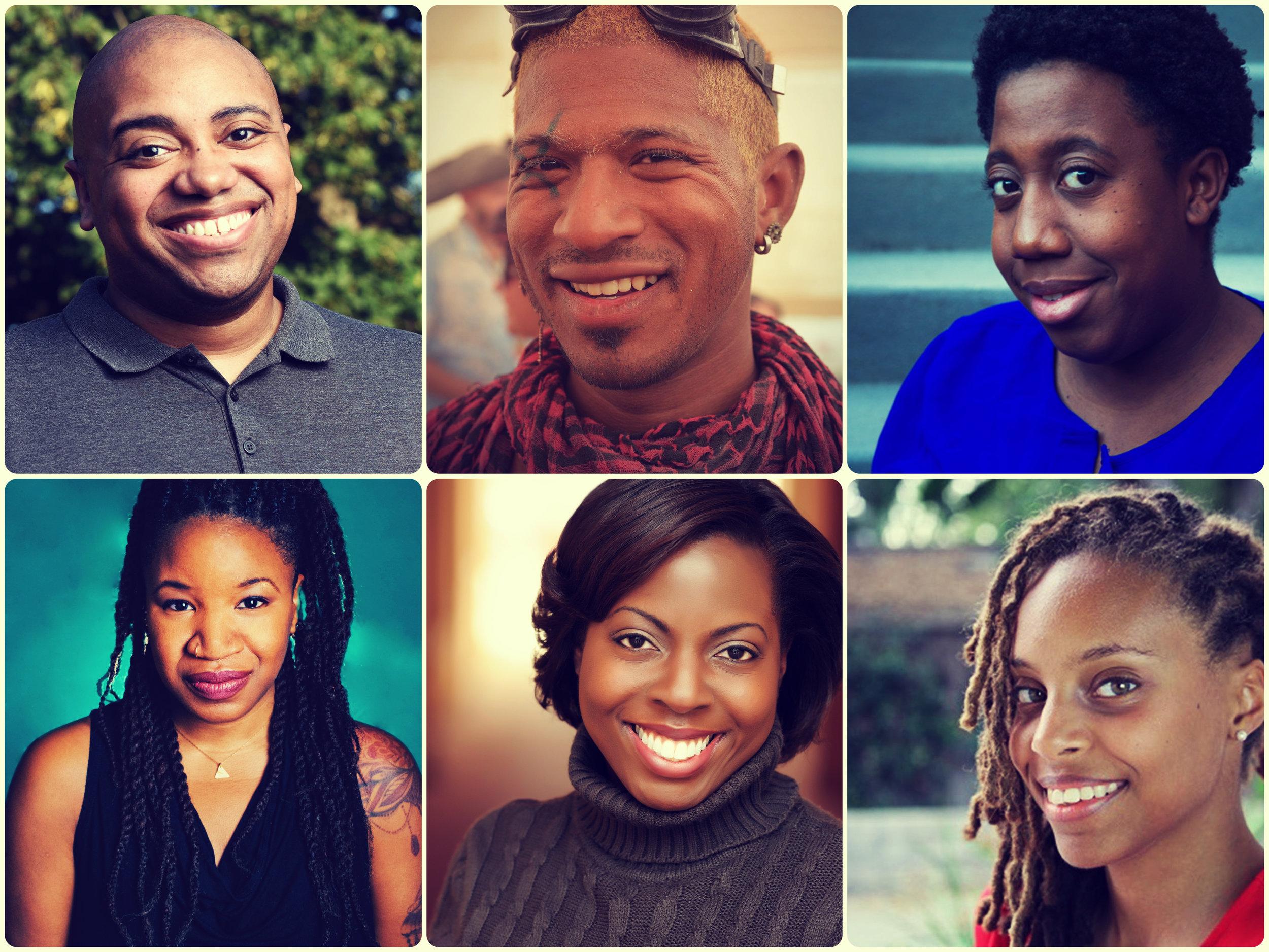 "My cohort: Jared Shamberger, JR ""Nexus"" Russ, Sisi Reid, myself, Farah Lawal Harris, and Cat Frost"