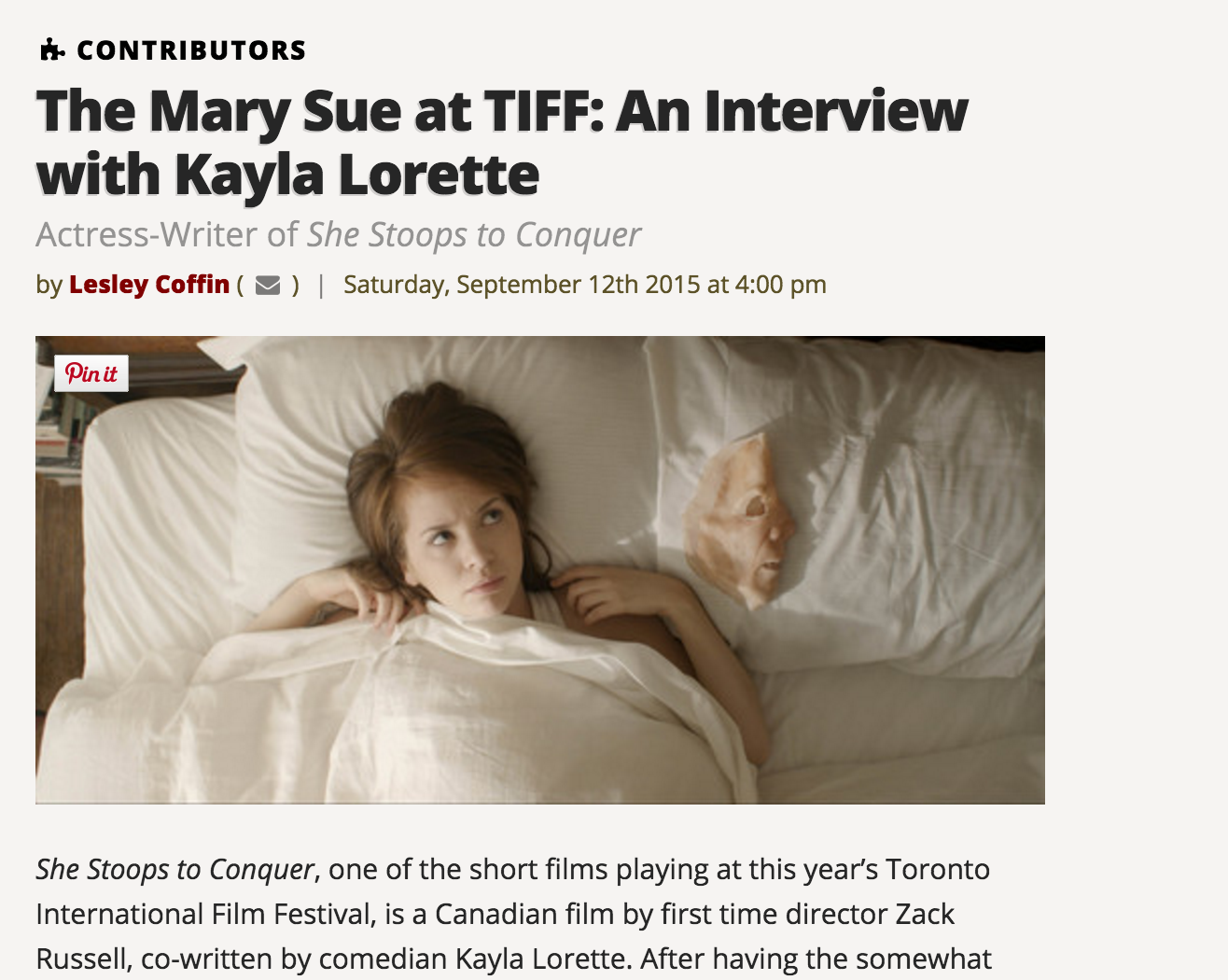 The Mary Sue (Interview)